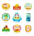 Vacation Emblems Set vector image vector image