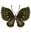 vintage butterfly vector image vector image