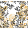 wild roses blossom branch seamless pattern vector image vector image