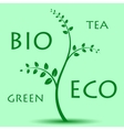 Eco Tree On Light Green Background vector image