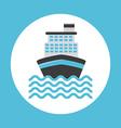 cruise ship design vector image