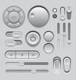 Gray Web UI Elements Design vector image