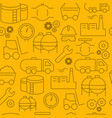 line style icons seamless pattern icons industrial vector image