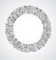 abstract technology with round monochrome ci vector image vector image