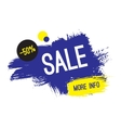 Advertising banner Sale 50 percent off More vector image vector image