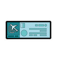airplane ticket icon vector image vector image