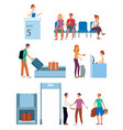 airport terminal and departure gate concept vector image vector image