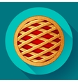 Apple Pie icon Flat designed style vector image