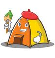artist tent character cartoon style