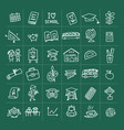 back to school icons for your design vector image vector image