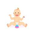 bamilestones eight month child playing pyramid vector image
