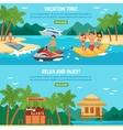 Beach banner set vector image vector image