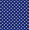 blue background polka fabric with white dots vector image vector image