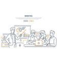 briefing - modern line design style web banner vector image