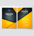 brochure design with dark metal texture background vector image
