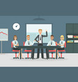 business meeting and teamwork office people vector image
