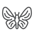 butterfly line icon nature and fly insect sign vector image vector image