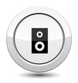 Button with music column vector image vector image