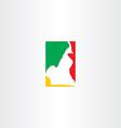 cameroon logo map icon vector image vector image