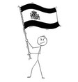 cartoon of man waving the flag of kingdom of spain vector image