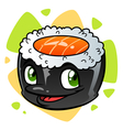 Cartoon sushi vector image vector image