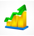 Chart icon on white vector image vector image