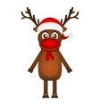 Cheerful cartoon reindeer on a white background vector image vector image