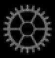 clock wheel halftone icon vector image