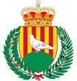 coat of arms of santa coloma de gramenet is a vector image vector image