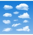 Collection of cloud symbols vector | Price: 1 Credit (USD $1)