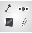 Commerce and Office Items Icons vector image