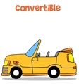 Convertible car of collection stock vector image vector image
