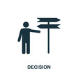 decision icon monochrome style design from vector image vector image