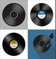 different gramophone vinyl lp record music vector image vector image