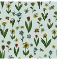 Drawing seamless floral pattern vector image