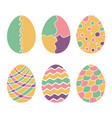 easter eggs hand drawn decorative egg colorful vector image