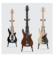Electric Bass Guitar set vector image vector image