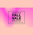 fall sale gradient banner vector image