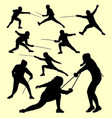 fencing sport silhouette vector image vector image