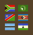 Flags of South Africa African Union Namibia vector image vector image
