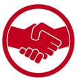handshake symbol vector image vector image