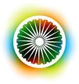 indian flag wheel vector image vector image