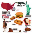 infographic elements for traveling to usa vector image vector image