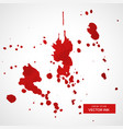 ink splatter stain collection vector image vector image