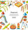 isometric playground objects happy vector image vector image