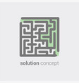 labyrinth as symbol conceptual vision in solution vector image vector image