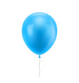 light blue realistic balloon vector image vector image