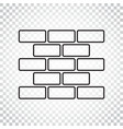 line style wall brick icon in flat style on vector image vector image