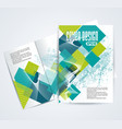 magazine brochure or flyer design with abstract vector image