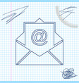 mail and e-mail line sketch icon isolated on white vector image vector image